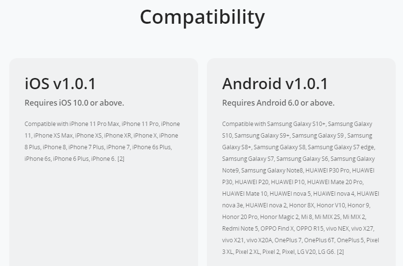 app compatibility list for DJI Fly app, part of the DJI Fly App Requires a 64-bit OS FYI article